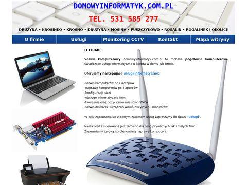 Serwis Komputerowy Naprawa Komputer贸w PC Laptop贸w Tworzenie Stron WWW Mosina Puszczykowo