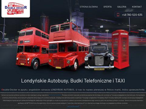 Wynajem: Londy艅ski autobus, Angielski autobus, Zabytkowy autobus, Londy艅ska budka telefoniczna