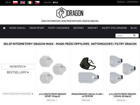 Maski Antysmogowe Przeciwpyłowe | Sklep z Maskami Dragon Kraków