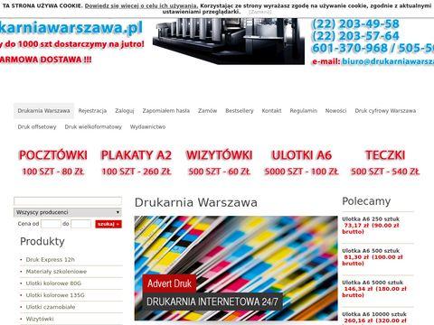 Drukarniawarszawa.pl - drukarnia internetowa z Warszawy