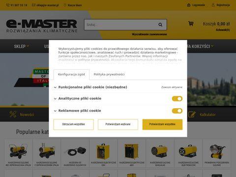 UrzÄ…dzenia marki Master, nagrzewnice powietrza, osuszacze - E-MASTER.pl