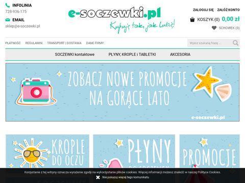 Soczewki kontaktowe - E-soczewki.pl