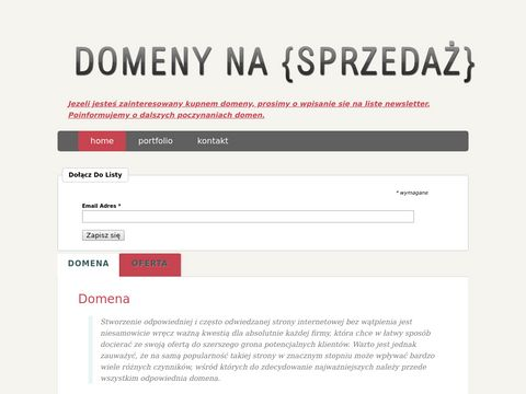 EDomainer sprzedaż domen internetowych