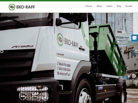 Eko-raff.com.pl kontener na gruz warszawa