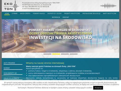 EKO-TON - Hałas. Pomiary hałasu, projekty i ekspertyzy akustyczne.