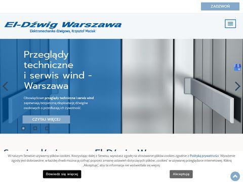 EL-DŹWIG S.C. montaż dźwigów osobowych Warszawa