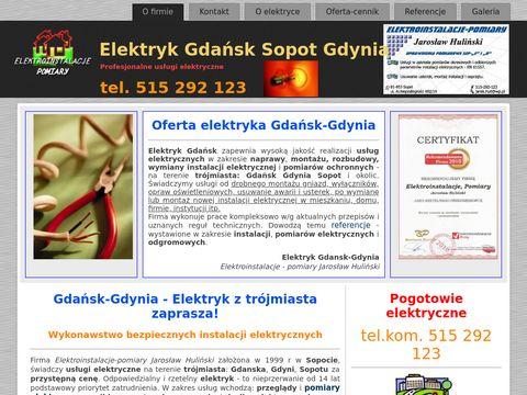 Elektryk instalacje elektryczne Gdańsk Gdynia