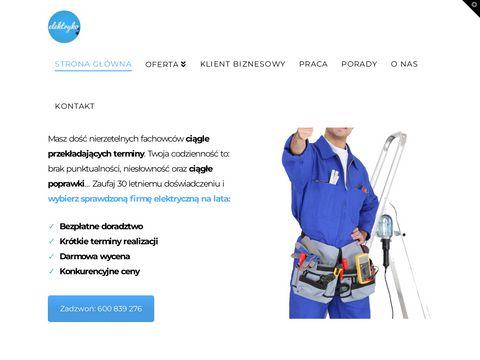 Elektryk Wroc艂aw, instalacje i pomiary elektryczne Wroc艂aw, ELEKTRYKO