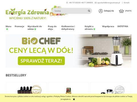 Energia Zdrowia - Wyciskarki do soków