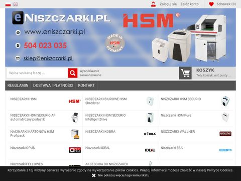 Niszczarki HSM, bindownice, laminatory, gilotyny