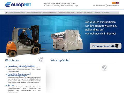 Handel transporte und service mit Spritzgießmaschinen