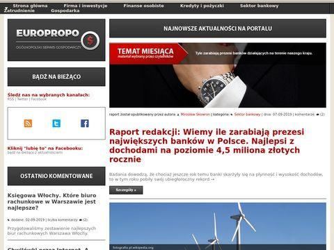 EuroPropo niezale偶ny blog i portal finansowy