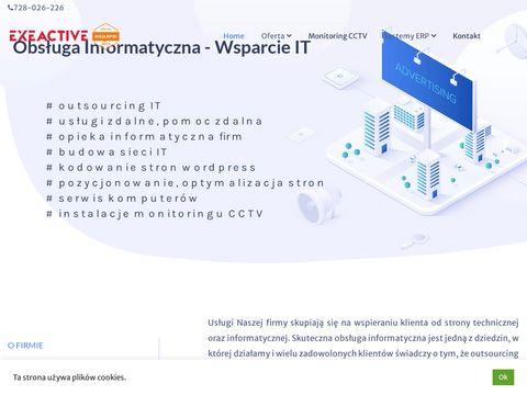 Usługi informatyczne - exeactive.pl