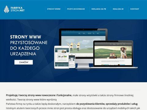 Fabrykastron.net - tworzenie stron internetowych