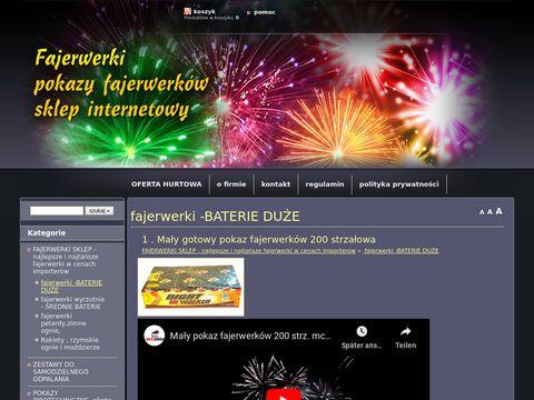 Fajerwerki sklep internetowy, fajerwerki, pokazy sztucznych ogni