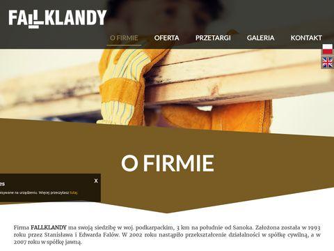 Fallklandy - tarcica, kraw臋dziak, b臋bny kablowe drewniane