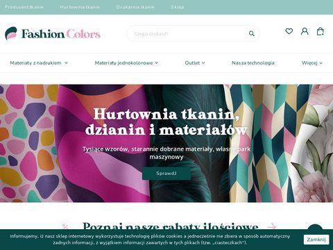 Sklep internetowy z tkaninami Fashion Colors