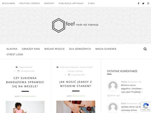 Feef - blog z modnymi stylizacjami
