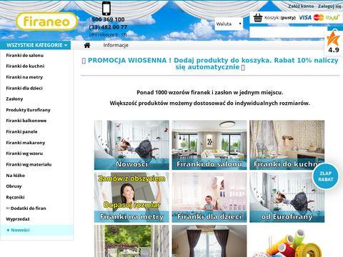 Firaneo.net - Firany i zas艂ony nowoczesne modne polskie - sklep internetowy