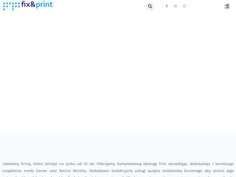 Fixandprint.pl - naprawa i serwis kserokopiarek i drukarek - Warszawa