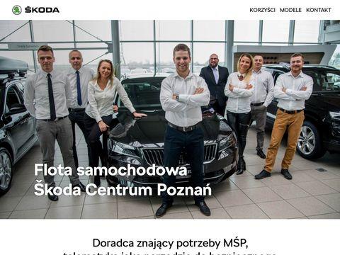 Flota samochod贸w w firmie - Skoda Centrum Pozna艅