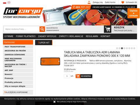 Zawiesia d藕wigowe - forcargo24.pl