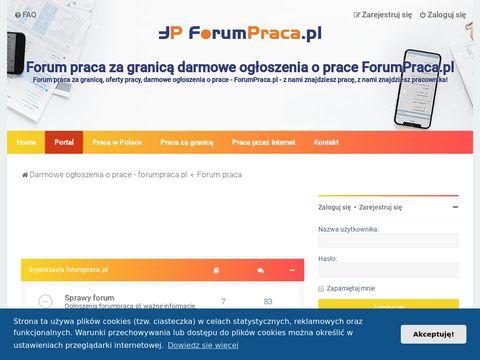 Forum praca za granicą, darmowe ogłoszenia o prace - ForumPraca.pl