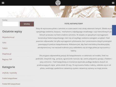 FotelKatapultowy.pl - Pierwsza strona w Polsce o fotelach katapultowych