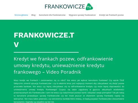 Odfrankowienie kredytu - frankowicze.tv