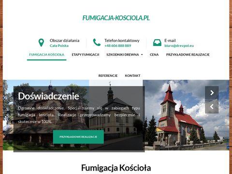 Gazowanie kościoła - fumigacja-kosciola.pl