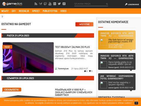 Gamedot.pl - portal i sklep dla graczy