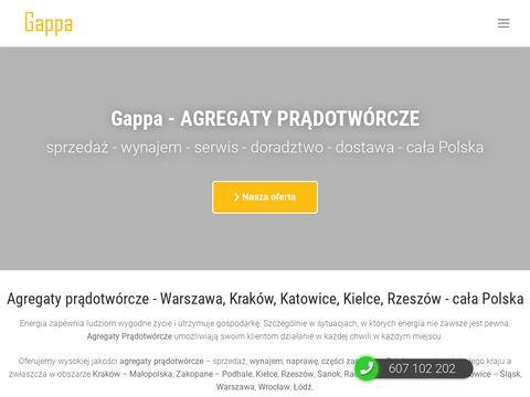 Agregaty prądotwórcze sprzedaż, wynajem, naprawa - serwis - GAPPA