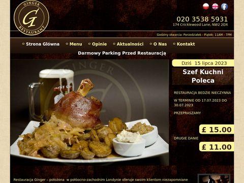Polska restauracja Londyn