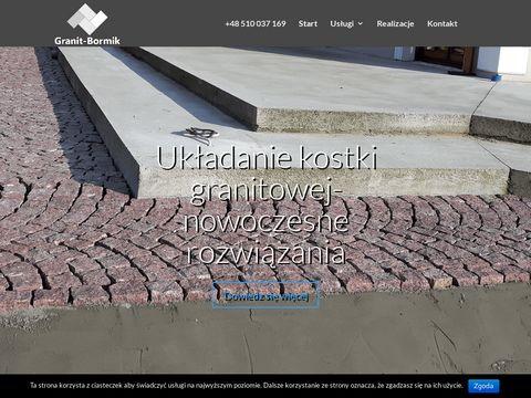 Układanie Kostki Granitowej i Łupka Granitowego - Granit Bormik
