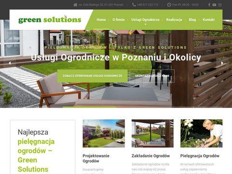 Projekty ogrod贸w Pozna艅