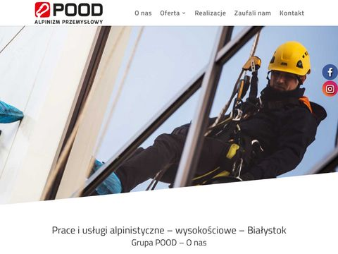 Montaż reklam Olsztyn, prace na wysokości, mycie okien Białystok - Grupa POOD
