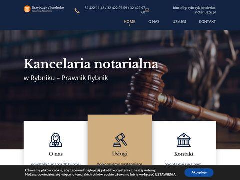 Grzybczyk Adam i Jonderko Katarzyna akty notarialne rybnik