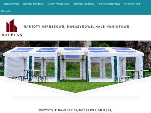 Halplan.pl hale magazynowe, namiotowe, przemysłowe, warsztatowe
