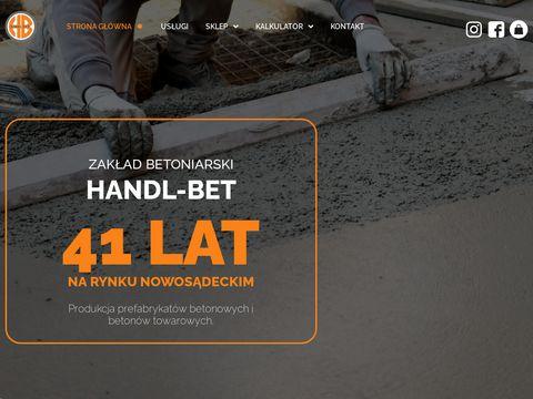 HANDL-BET krÄ™gi betonowe nowy sÄ…cz
