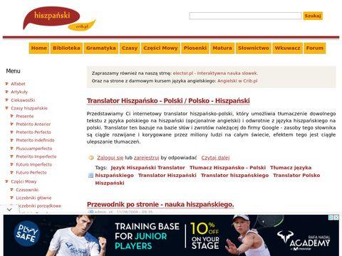 Hiszpańsski | Nauka języka hiszpańskiego.