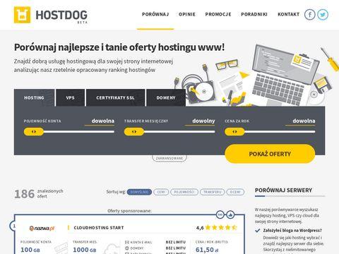 Porównywarka hostingów Hostdog