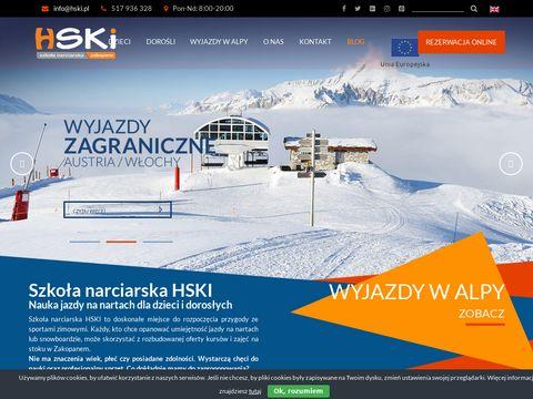 Szko艂a Narciarska HSKI: Nauka jazdy na nartach dla dzieci i doros艂ych|HSKi.pl