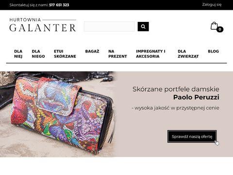 Hurtownia galanterii skórzanej - portfele, walizki, torebki
