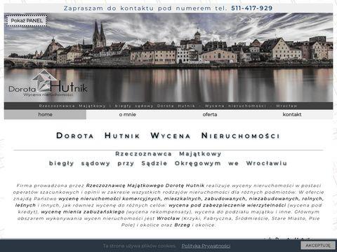 Rzeczoznawca Maj膮tkowy - Dorota Hutnik - Wycena nieruchomo艣ci - Wroc艂aw