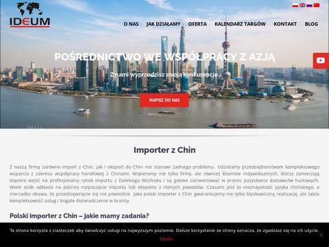 Ideum - import z Chin