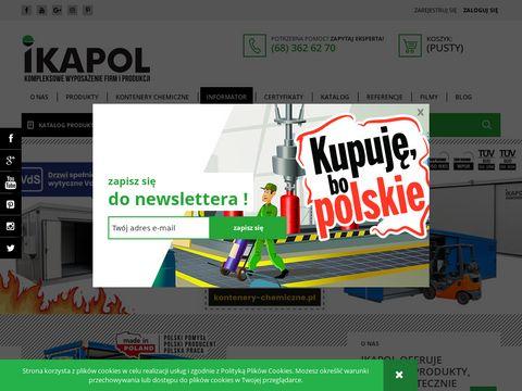 IKAPOL - Sorbenty, kontenery chemiczne, wanny wychwytowe