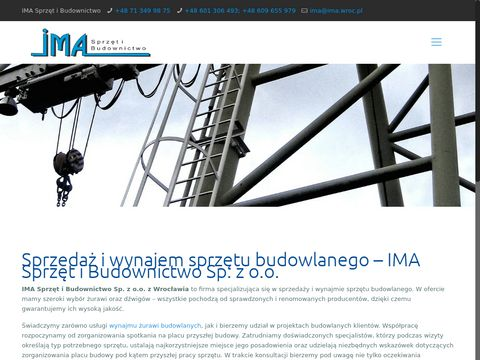 Ima.wroc.pl Dźwig Wrocław