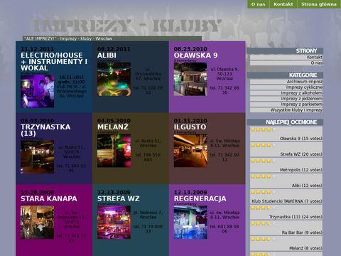 Ale Imprezy! - Imprezy – kluby – Wrocław