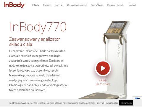 InBody770 -聽zawansowany analizator sk艂adu cia艂a