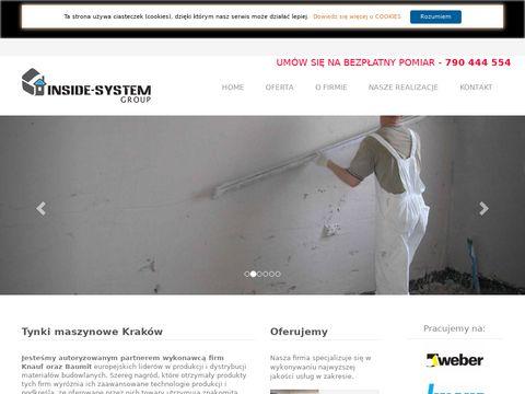 Tynki maszynowe Kraków - Inside System